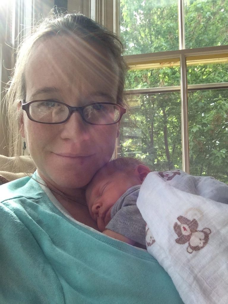 Climate Stew crew member Lori Hayes Kershner (and infant Soren)