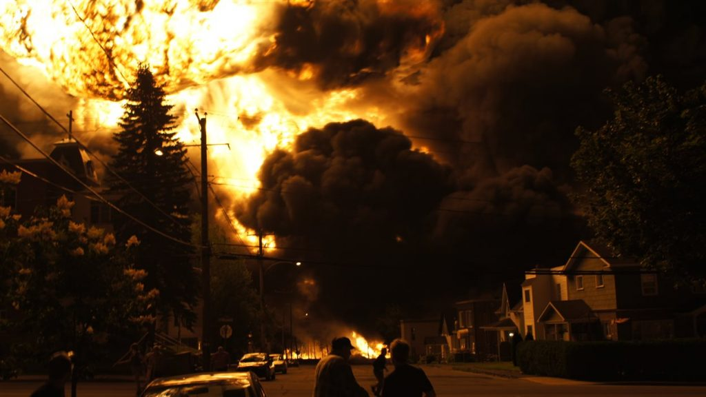 Lac Megantic explosion (New York Daily News)