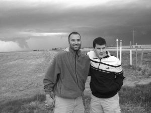 Steve Famiglietti storm chasing with Alan Hopkins