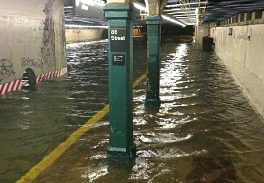 Flooding in NYC during Superstorm Sandy