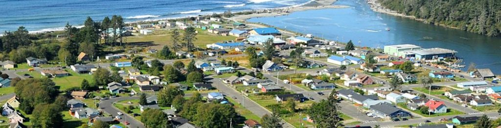 Quinault Village of Taholah on the Pacific Coast