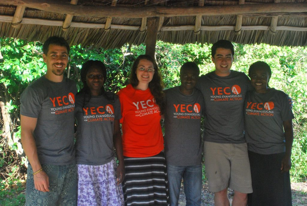 Y.E.C.A. Steering Committee members with three Y.E.C.A. Congolese Climate Leadership Fellows at a natural science training in Mwamba, Kenya. (from Left to Right, Andrew Kinzer, Diane Kyanga, Rachel Lamb, Faden Simbamtaki, Ben Lowe and Jolie Sifa Kpaka)